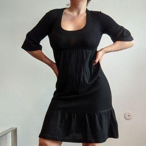 NWT Qi Cashmere Bell Sleeve Midi Dress